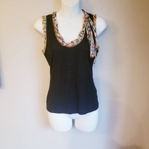 Missoni wool blend tank top with silk details